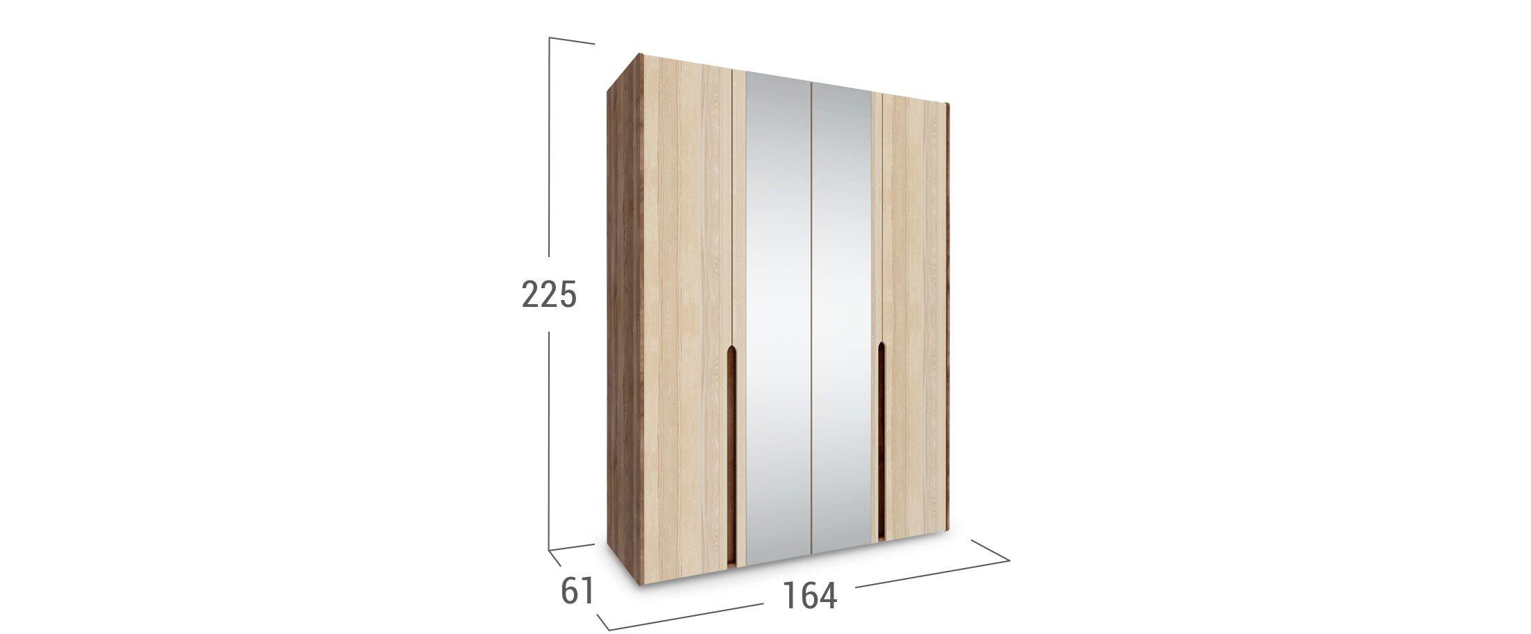 Шкаф 4-дверный с зеркалом Ребекка